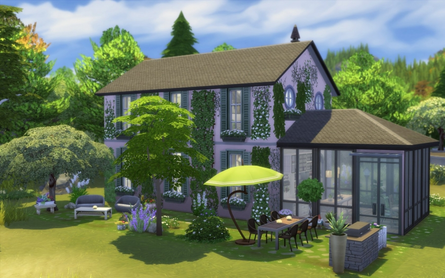 sims 10 maison ancienne rose building house home