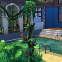 Piscine et terrasse vue 1