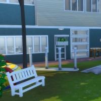 Clinique vétérinaire Les amimaux - Façade arrière et jeux pour animaux