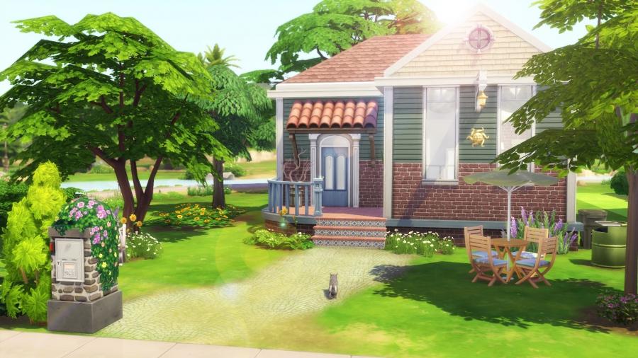 la maison du soleil sims 4. Black Bedroom Furniture Sets. Home Design Ideas