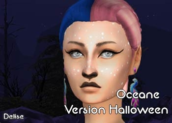 La version Halloween de la coiffure Oceane, en mode bicolore !
