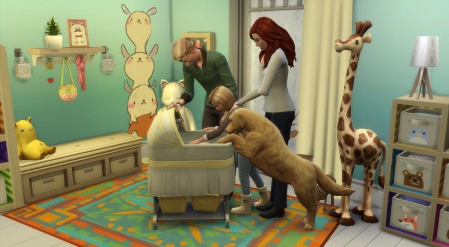 Autour du berceau - la famille - vue 1