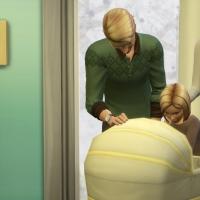Autour du berceau - la famille - vue 4