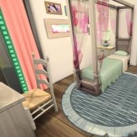 Villa verte chambre rose 1