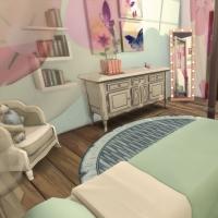 Villa verte chambre rose 2