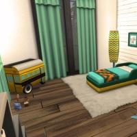 Villa verte chambre verte 1