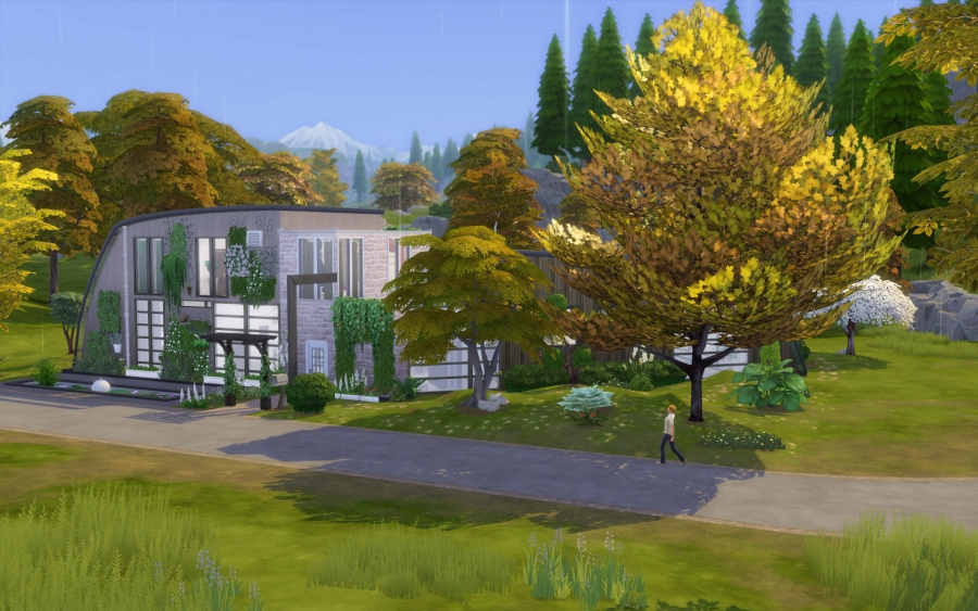 Villa verte exterieur 1