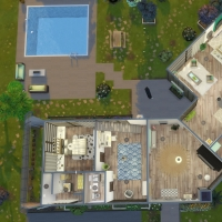 Villa verte plan rez de chaussée