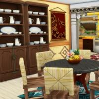 Hoya iles paradisiaques piece de vie salle a manger vue cuisine