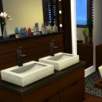 Yacht - étage 1 - la première suite - la salle de bain