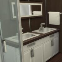 Yacht - étage 1 - la deuxième suite - la salle de bain