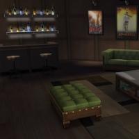 Yacht - étage 1 - la salle avec home cinema - vue 1