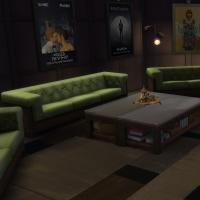 Yacht - étage 1 - la salle avec home cinema - vue 2