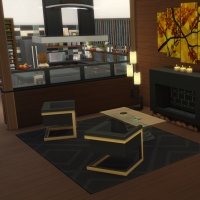 Yacht - étage 2 - le salon - le coin cheminée