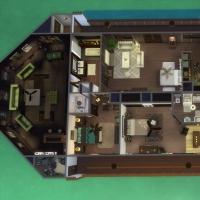 Yacht - plan de l'étage 1