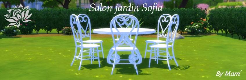 Salon de jardin Sofia