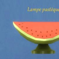Lampe-pastèque
