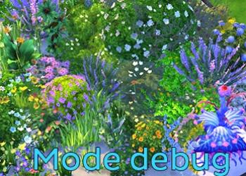 Mode debug : Buissons � fleurs