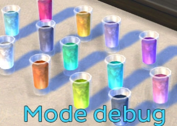 Les essences de plante vache du mode debug