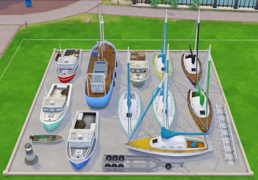 sims 4 mode debug bateaux