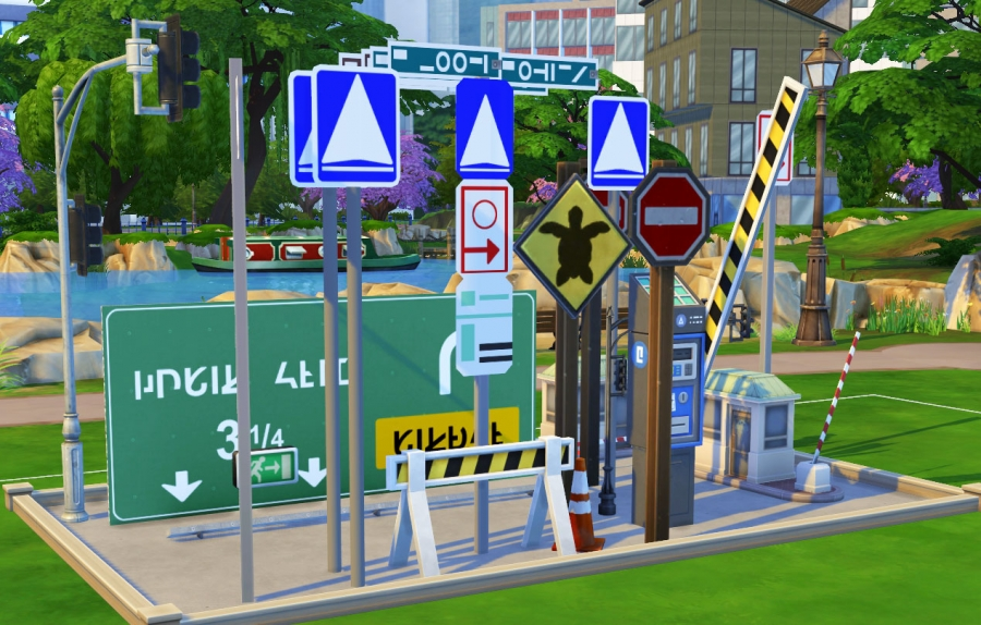 sims 4 mode debug panneaux signalisation