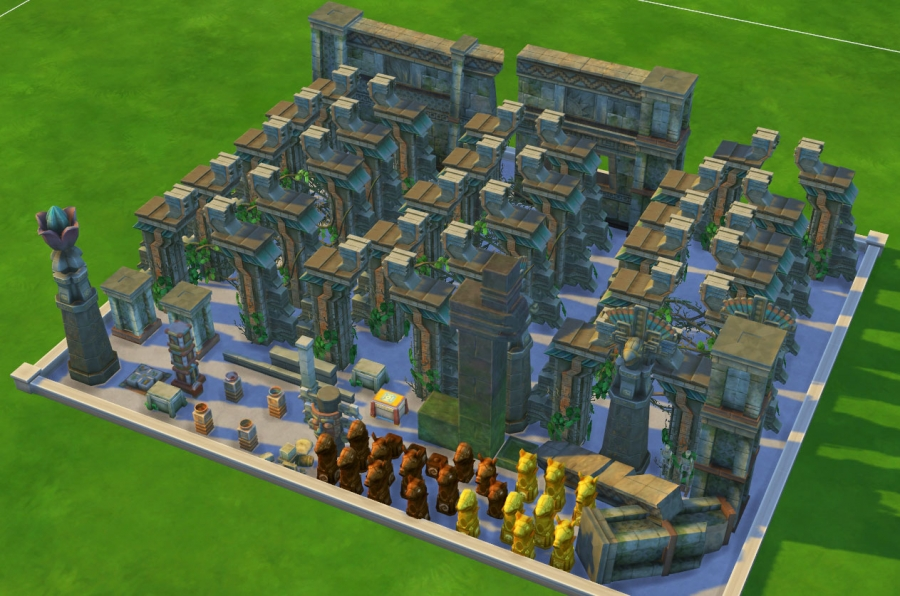 sims 4 mode debug temple dans la jungle
