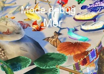 Les éléments de l'ocean du mode debug