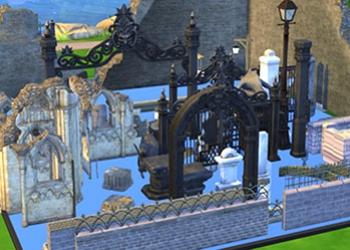 Des éléments de décoration gothique pour un cimetière