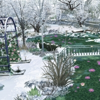 Giverny claude monet jardin hiver 1