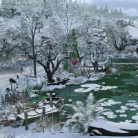 Giverny claude monet jardin hiver 2