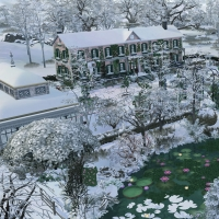 Giverny claude monet jardin hiver 3