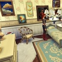 Giverny claude monet jardin interieur chambre bleue 2
