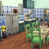 Giverny claude monet jardin interieur cuisine 2