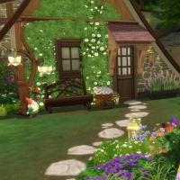 Home Witch Home - Jardin avant - Vue sur l'entr�e de la maison