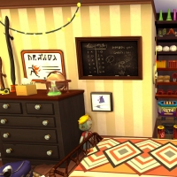 sims 4 terrier chambre fred george 3