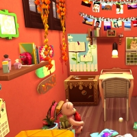 sims 4 terrier chambre ginny 2
