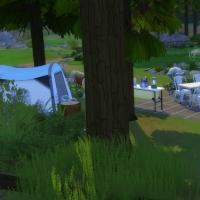 La caravane de Granite Falls - l'arri�re de la caravane