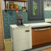 La caravane de Granite Falls - le coin cuisine
