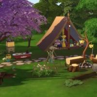 Yourte boh�me - la tente, la ruche et le feu de camp