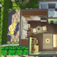 Une vie � deux - vue a�rienne de la maison