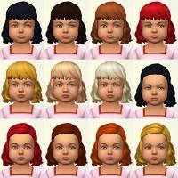 Bambins toutes les couleurs avec et sans frange