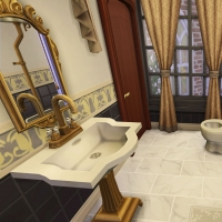 hatfield palace 2e etage chambre verte salle de bain 1