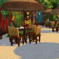 Restaurant de Sulani - les tables de la terrasse arri�re