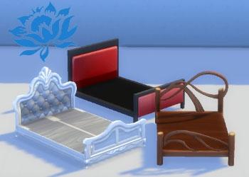 Cadre de lits doubles EA