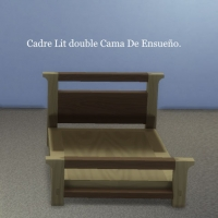 Cadre-Lit-double-Cama-De-Ensueño