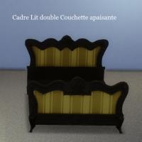 Cadre-Lit-double-Couchette-apaisante