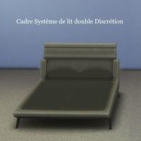 Cadre-Système-de-lit-double-Discrétion