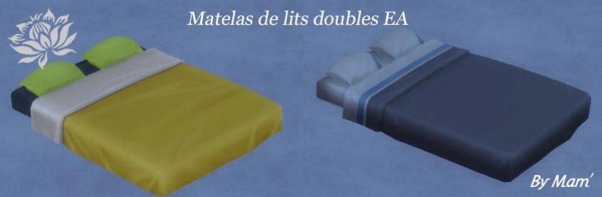 Matelas lits doubles EA