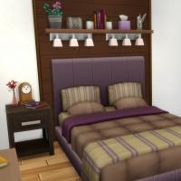Appartement 1310 - la chambre - vue 1