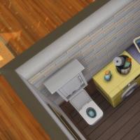 Containers en colocation - la buanderie avec WC